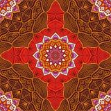 Этническая флористическая безшовная картина иллюстрация штока