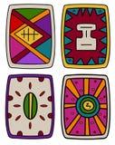 Этнические абстрактные формы экрана бесплатная иллюстрация