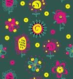 Этнические орнаментальные цветки Стоковое Изображение RF