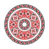 этнические повода Круговая картина в традиционном стиле Стоковое Изображение
