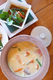 Этнические тайские блюда стоковые изображения rf