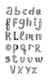 Этнический латинский алфавит Стоковые Фотографии RF