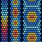 Этнический африканец отбортовывает абстрактный цвет безшовный иллюстрация вектора