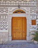 Этнический вход дома стиля, остров Хиоса стоковое фото rf