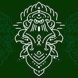 Этнический значок маски Маска плоской маски племенная этническая Стоковые Фото