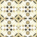 Этнический индийский геометрический золотой дизайн картины Стоковое фото RF