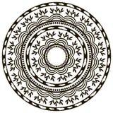 Этнический круглый орнамент Стоковая Фотография RF