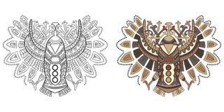 Этнический орел в графическом стиле Иллюстрация вектора для col Стоковое фото RF