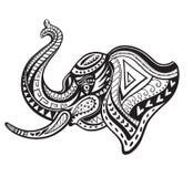 Этнический орнаментированный слон Стоковые Фотографии RF