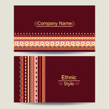 Этнический шаблон визитной карточки бесплатная иллюстрация