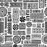Этнический handmade орнамент, безшовная картина для иллюстрация штока
