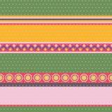 Этнический striped стиль и картина звезд безшовная иллюстрация вектора