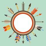 Этническое происхождение с индийскими стрелками в уроженце Стоковое фото RF