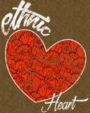 Этническое сердце Стоковые Фото