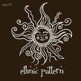 Этническое солнце картины Стоковая Фотография