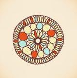 Этнической милой мандала нарисованная рукой De элемента дизайна Стоковое Изображение RF