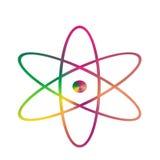 Атом символа Стоковая Фотография