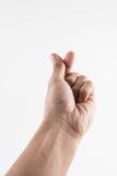 Этот жест рукой значит я тебя люблю в Корее Стоковое фото RF
