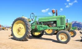 Классицистический американский трактор: John Deere B (1945) стоковое изображение
