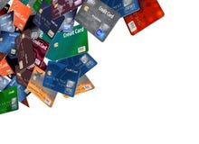Это большая группа в составе летание, плавая кредитные карточки иллюстрация штока