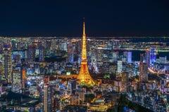 Это взятие фото от точки зрения Roppongi Hills Стоковое фото RF