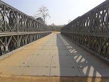 Мост утюга над рекой стоковая фотография rf