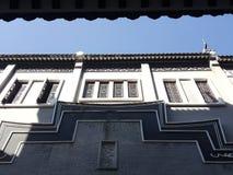 Это пейзаж улицы старинного здания в Huizhou, Китае стоковая фотография rf