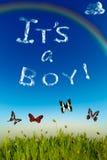 «Это поздравительная открытка мальчика» стоковое фото