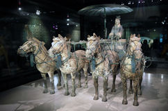 Музей ратников и лошадей Terracotta Китая Стоковые Фотографии RF