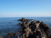 Это фото было принято на взморье в острове Jeju, Южной Корее стоковое фото