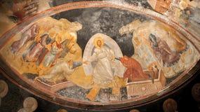 Иисус, Адам и фреска Eve в музее Kariye, Стамбуле Стоковые Изображения RF