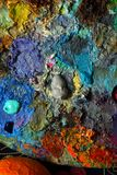 Это часть палитры с красками масла Стоковое Изображение