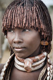 Эфиопия, портрет неопознанной женщины Hamer Стоковое Фото
