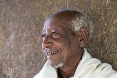 Эфиопия, Lalibela, январь 2015, эфиопский монах, РЕДАКЦИОННЫЙ Стоковое Изображение