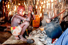 Эфиопская девушка Стоковая Фотография
