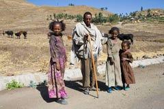 Эфиопская традиционная семья Стоковые Фото