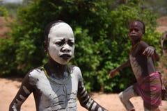 Эфиопские мальчики Стоковые Фотографии RF