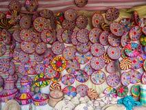 Эфиопские handmade корзины Habesha продали в Axum, Эфиопии Стоковая Фотография RF