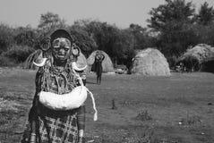 Эфиопский мальчик, ¹ tribà Стоковое фото RF