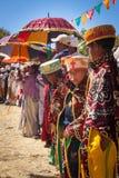 Эфиопский ребенк во время фестиваля Timkat на Lalibela в Эфиопии Стоковое Изображение