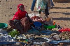 Эфиопский рынок улицы Стоковые Изображения