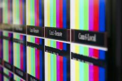 Эфирный подпишите внутри диспетчерский пункт телевидения Стоковые Фото