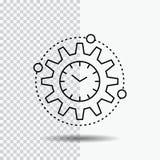 Эффективность, управление, обрабатывая, урожайность, линия значок проекта на прозрачной предпосылке r бесплатная иллюстрация