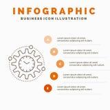 Эффективность, управление, обработка, урожайность, шаблон Infographics проекта для вебсайта и представление r иллюстрация вектора