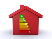 эффективный дом энергии иллюстрация вектора