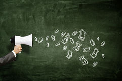 Эффективный маркетинг дела Мультимедиа Стоковое Изображение