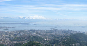 Эффектная панорама и воздушный вид на город Рио-де-Жанейро, Бразилии стоковое фото rf