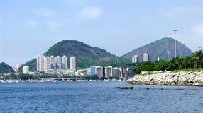 Эффектная панорама Рио-де-Жанейро стоковые фотографии rf