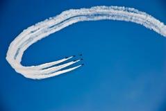 эффектное выступление летания Стоковая Фотография