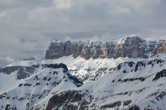Эффектные горы целлы Gruppo, целла Ronda, доломиты, Альпы, Италия Стоковое Изображение RF